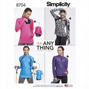 8704 Simplicity Pattern: Misses' Knit Pullover Sports Tops